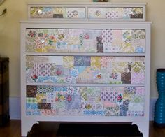 Use Vintage Wallpaper on an Old Dresser - DIY Home Decor Ideas on a Budget - Click for Tutorial