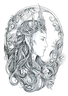 Elven queen by jankolas on deviantart fantasy myth mythical · fairy coloring pagesadult coloring Fairy Coloring Pages, Coloring Pages To Print, Printable Coloring Pages, Adult Coloring Pages, Coloring Books, Kids Coloring, Coloring Pages For Teenagers, Elven Queen, Gothic Fairy