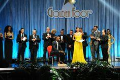 1e Golden Foot Award Monaco en 2013, de gauche vers la droite, Michele Caliendo Golden Foot President, Antonio Caliendo World Champions Pres...