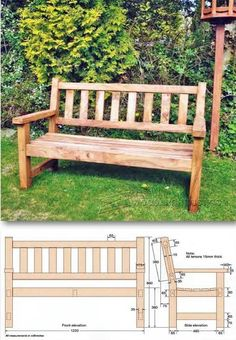 Build Garden Bench - Outdoor Furniture Plans and Projects | WoodArchivist.com #woodworkingbench