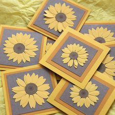 Sunflower Mini Cards or Gift Tags set of 4 by SandrasCardShop, $4.00