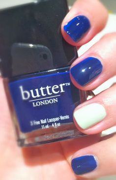 I LOVE this blue nail polish from Butter London!