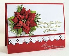Beautiful Poinsettia card