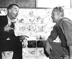 Pinto Colvig (Goofy) and Jack Kinney