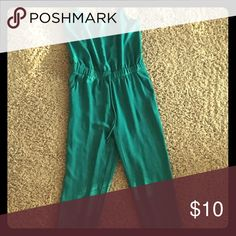 Green Jumpsuit Here's a fun silk pantsuit for a perfect girls night out Rumors Pants Jumpsuits & Rompers