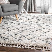 Shop for The Gray Barn Dennis Hollow Geometric Trellis Tassel Shag Area Rug. Get free delivery at Overstock - Your Online Home Decor Store! Get in rewards with Club O! Area Rugs For Sale, Rug Sale, Modern Color Palette, Vintage Industrial Decor, Polypropylene Rugs, Rugs Usa, Buy Rugs, Contemporary Rugs, Online Home Decor Stores