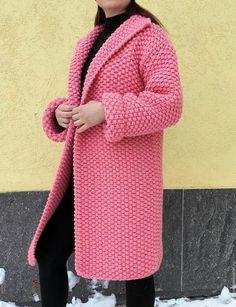 """Верхняя одежда ручной работы. Ярмарка Мастеров - ручная работа. Купить Вязаное пальто крупной жемчужной вязки """"Крупный жемчуг"""". Handmade."""