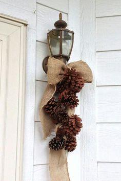 Simple pine cones & burlap by by Gigi