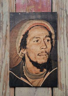 Bob Marley wood transfer art decor by valazozartandvintage on Etsy, $20.00