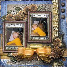 Heartfelt Creations | Sunflower Sunshine Layout