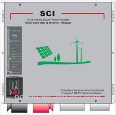 Sustentabilidade Energética Solar Termosolar e Eólica : Inversor Híbrido Solar 1000W