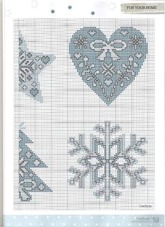 Deck the halls ornaments 4/6 Cross stitcher Magazine no: 260 December 2012 Free pattern and colorcode CROSS STITCH COLLECTION 260 deck the halls