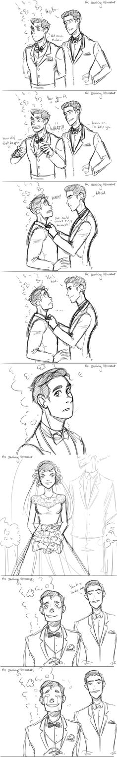 I did a comic because an anon asked how Bolin would react to Opal in a wedding dress. This is how I imagined the whole situation. :D