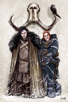 Oh come on, Jon. Cheer up! Day 3 of my week of Game of Thrones art Jon Snow and Ygritte Cersei Lannister, Daenerys Targaryen, Game Of Thrones Artwork, Game Of Thrones Fans, Valar Dohaeris, Valar Morghulis, Arya Stark, Jon Snow And Ygritte, Fantasy Books