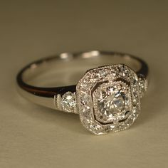 Art+Deco+Inspired+Wedding+Ring+Platinum+and+14k+White+by+JdotC,+$1,400.00