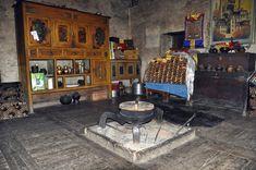 Inside a Gyarong house