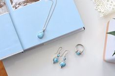 Perfectly combined💙 Larimar Jewelry