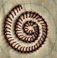 embroidery - buttonhole stitch with beads