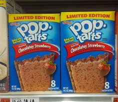 SPOTTED ON SHELVES: Kellogg's Limited Edition Frosted Chocolatey Strawberry Pop-Tarts | The Impulsive Buy