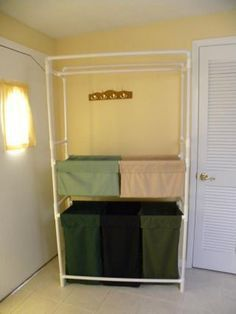 Here is a Laundry Bin project that my daughter and I built out of PVC pipe.