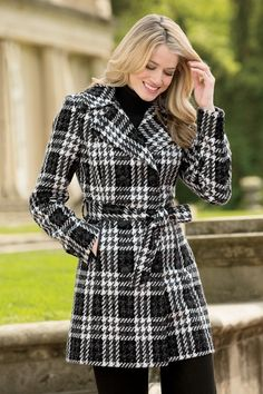 0cee74514e8 Belted Plaid Coat By Donnybrook from Chadwicks Of Boston on Catalog Spree  Wool Trench Coat