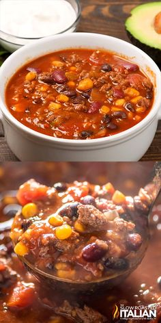 Slow Cooker Taco Soup is a quick and easy dinner recipe with all your favorite Mexican flavors that takes just ten minutes to prep! and easy dinner recipes Slow Cooker Taco Soup Crock Pot Recipes, Slow Cooker Recipes, Taco Soup Recipes, Macaroni Recipes, Chilli Recipes, Taco Soup Slow Cooker, Crock Pot Tacos, Crock Pot Chili, Slow Cooker Chilli