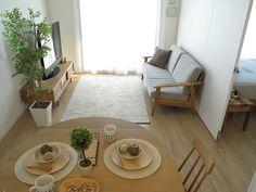 One Room Apartment Design Interior One Room Apartment, Small Apartment Interior, Apartment Design, Small Room Interior, Japanese Living Rooms, Japanese Home Decor, Interior Modern, Home Interior, Interior Design