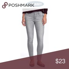 """New* Rockstar Mid Rise Super Skinny Ankle Raw Hem Color is granite (washed out grey). 72% cotton, 17% polyester, 10% rayon, 1% spandex. Lots of stretch! Raw hem ankle looks great with flats or heels. Approx Measurements size 14: bit under 10.5"""" font rise, 27"""" inseam, across back waistband, laying flat & unstretched approx 16.5"""". Size 18: 11.5"""" front rise, 27"""" inseam, across back waistband laying flat 18.25"""" Old Navy Jeans"""