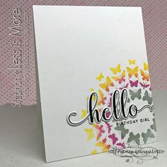 my Ink well Winner Announcement, You Are Invited, Less Is More, Simon Says Stamp, I Card, Girl Birthday, Card Stock, Congratulations, Stencils