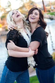 Sister pictures --- just one problem... We're not huggy people... Lol
