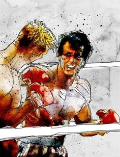 Boxing: Rocky Balboa vs Drago Art Print by Ed Pires Rocky Balboa, Rocky Film, Silvester Stallone, Comic Books Art, Book Art, Movie Poster Art, Sports Art, Cool Posters, Classic Movies