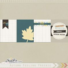 Autumn Feeling journal cards freebie from Flutter Expressions #ProjectLife