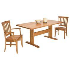 Single-Leg Trestle Table by Vermont Woods Studios