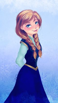 Anna From Frozen Fan Art | Anna digital fan art iphone wallpaper Frozen Elsa & Anna Digital Fan ...