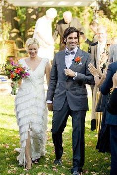 Amy Smart and Carter Oosterhouse got married on Sept. 10 in Traverse City, MI.