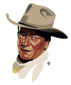 John Wayne by Amy Hoodlum