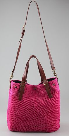"New Cheap Bags. The location where building and construction meets style, beaded crochet is the act of using beads to decorate crocheted products. ""Crochet"" is derived fro Bag Crochet, Crochet Handbags, Crochet Purses, Crochet Crafts, Crochet Skirts, My Bags, Purses And Bags, Handbag Patterns, Knitted Bags"