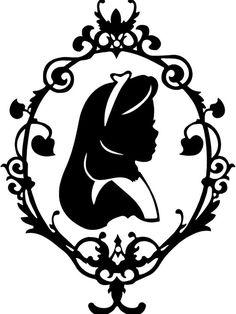 Alice au pays des merveilles Alice Silhouette par AtrumDesignCo                                                                                                                                                                                 Plus