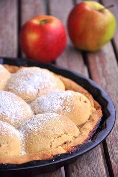 Jabłka pod kruchym ciastem