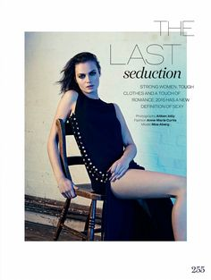 The Last Seduction: #MoaAberg by #AitkenJolly for #ElleUK April 2015