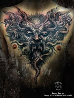 Satanic Tattoos, Evil Tattoos, Wicked Tattoos, Skull Tattoos, Body Art Tattoos, Hand Tattoos, Sleeve Tattoos, Shadow Tattoo, Demon Tattoo