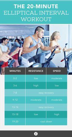 20-Minute Elliptical Workout #elliptical #workout #fitness
