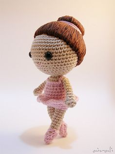 ballerina amigurumi by airali_gray