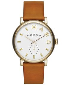 Marc by Marc Jacobs Women's Baker Tan Leather Strap Watch 36mm MBM1316 - Watches - Jewelry & Watches - Macy's