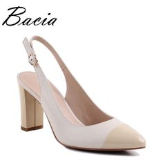 Find More Women's Sandals Information about Bacia Sheep Skin Sandals 2017 New Thick Square Pointed Toe Heels Buckle Strap Women High Pumps Leather Shoes 35 40 Size SA004,High Quality sandals shoes women,China womens sandal heels shoes Suppliers, Cheap sandal heel shoes from Bacia on Aliexpress.com