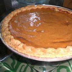 Mom's Pumpkin Pie Recipe-- I substituted evaporated milk for heavy cream. Best Pumpkin Pie, Pumpkin Pie Recipes, Pumpkin Puree, Milk Recipes, Dessert Recipes, Fall Desserts, Thanksgiving Recipes, Holiday Recipes, Pie Crust Recipes