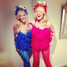 Sexy elmo and cookie monster costumes.