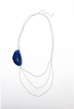 Side Chain Agate Necklace