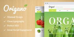 CURRENT VERSION 1.6 (see Change log at the bottom of this page)   Origano, with its excellent clean design, is an ideal option for organic food & Eco Farm related websites: agricultural business, healthy food blog, organic food shop, organic farm, bakery, you name it!   The theme has a  #agriculture #agritourism #agrotourism #ecology #ecommerce #farm #farming #food #health #healthy food #organic #organic food store WordPress Theme #organic food WordPress Theme #retail #shop