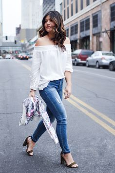 Can't go wrong with a white blouse and denim… Click to get this look plus additional spring-perfect pieces from Lucky Brand. #ad